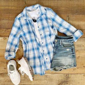 Baby Blue Plaid Flannel